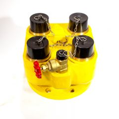 4 Way Breeching Inlet (Yellow)