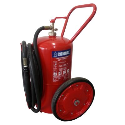 Trolley Mounted Mobile ABC Dry Chemical Fire Extinguisher - 50 Kg