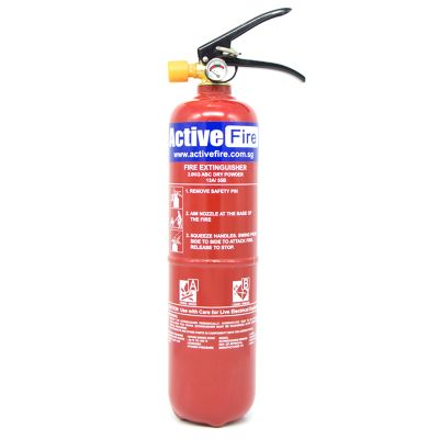 Portable ABC Dry Chemical Fire Extinguisher - 2 Kg